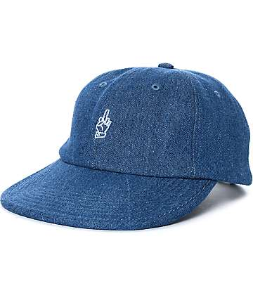 Good Worth Best Wishes Denim Strapback Hat