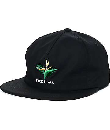 Good Worth Fuck It All Black Snapback Hat
