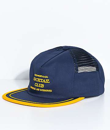 Good Worth Underpaid Navy & Gold Trucker Hat