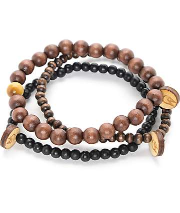 Goodwood NYC Ursa Minor 3 Pack Brown Bracelets