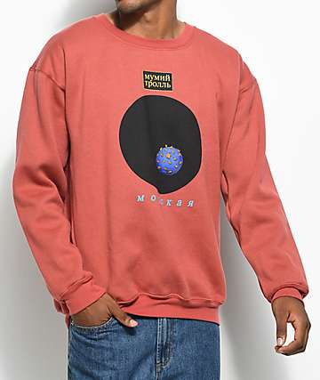Gosha X Mumiy Troll Heather Red Crewneck Sweatshirt