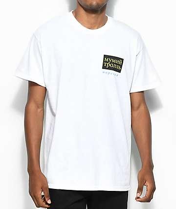 Gosha X Mumiy Troll camiseta blanca