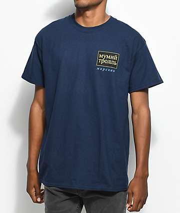 Gosha X Mumiy Troll camiseta en azul marino