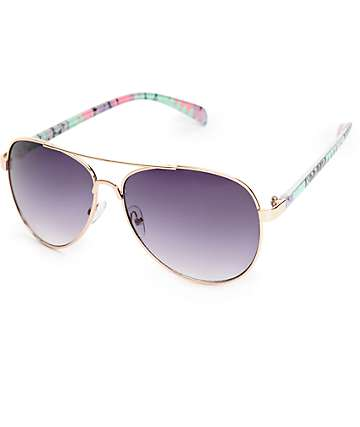 Grand Pastel Aztec Aviator Sunglasses