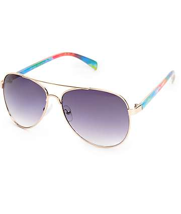 Grand Tie Dye Aviator Sunglasses