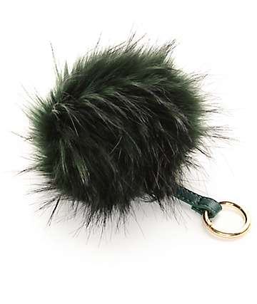 Green Fuzzy Bag Charm