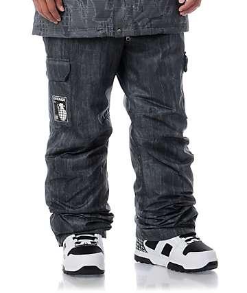 Grenade Army Corps Black Denim 8K Snowboard Pants