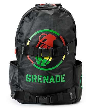 Grenade Black & Rasta Logo Backpack