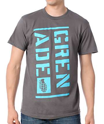 Grenade Blocked Art Charcoal T-Shirt