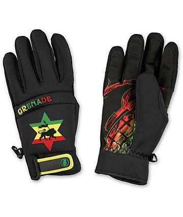 Grenade Bob Gnarley Black Pipe Snowboard Gloves
