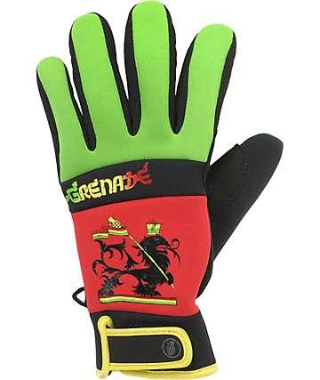 Grenade Bob Gnarly Rasta Mens Snowboard Pipe Gloves