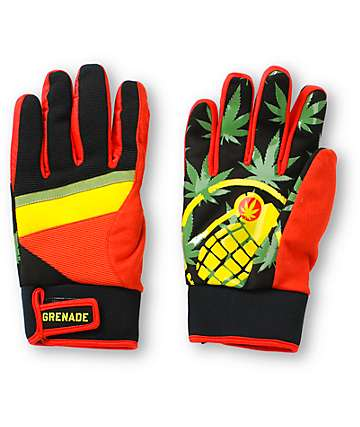Grenade Bob Gnarly Rasta Snowboard Gloves