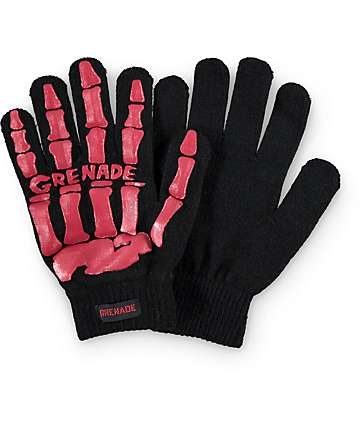 Grenade Bones Knit Gloves