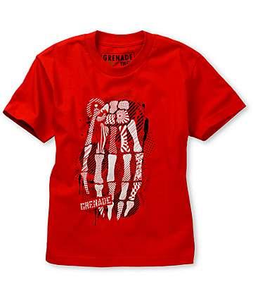 Grenade Boys Skullbomb Red T-Shirt