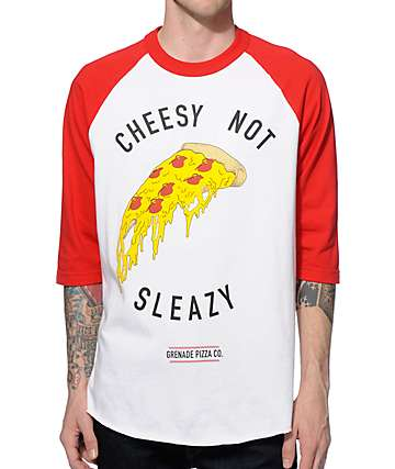 Grenade Cheesy Not Sleazy Baseball T-Shirt