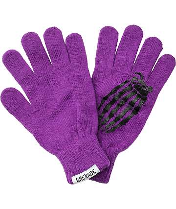 Grenade Crypt Purple Knit Gloves