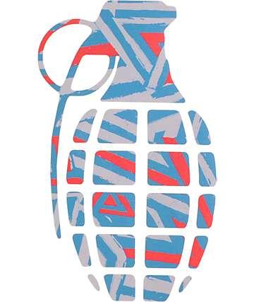 Grenade Doomvision Red & Blue 8.5 Die Cut Sticker