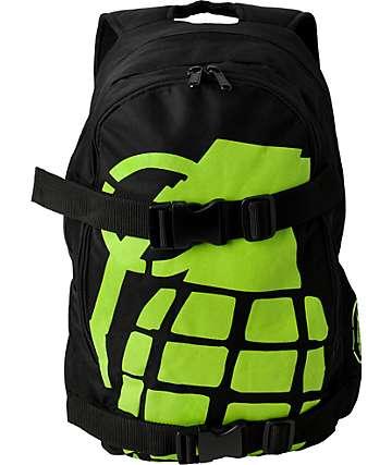Grenade Exploiter Black & Lime Skate Backpack