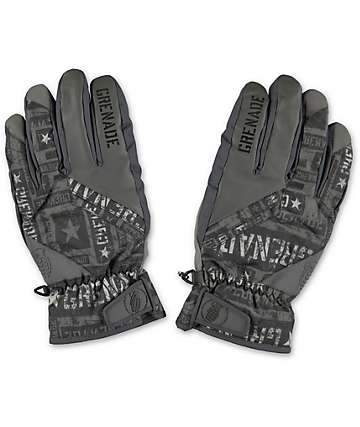 Grenade Fragment Grey Snowboard Gloves