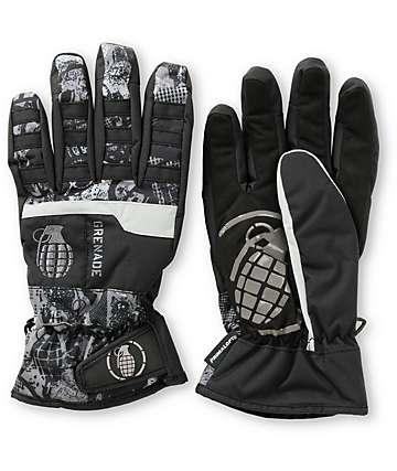 Grenade Fragment Mens Black Snowboard Gloves