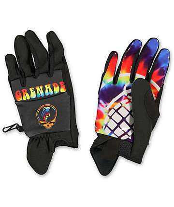 Grenade Grateful Shred Black CC935 Pipe Snowboard Gloves
