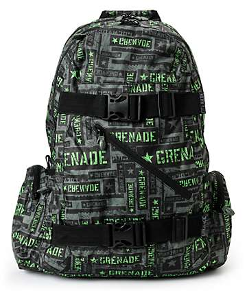 Grenade Green & Black Task Force Backpack