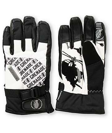Grenade Huey Black & White Snowboard Gloves