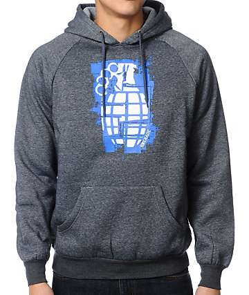 Grenade Knuckle Up Charcoal Pullover Hoodie