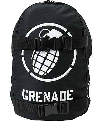 Grenade Logo Black & White Skate Backpack