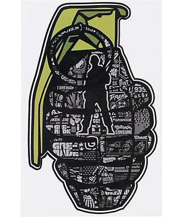 Grenade Logo Printed Die Cut Sticker