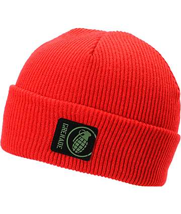 Grenade Max Fold Red Beanie