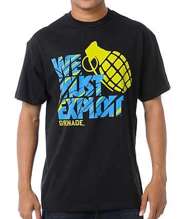 Grenade Motto Art Black T-Shirt