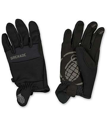Grenade Murdered Out Black CC935 Pipe Snowboard Gloves