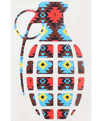 Grenade Native Print Die Cut Sticker