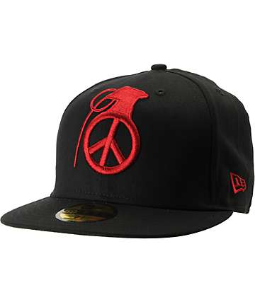 Grenade Peace Bomb Black New Era Hat