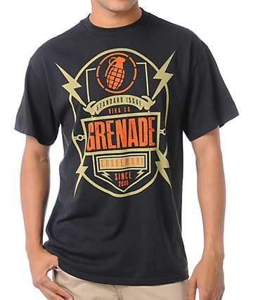 Grenade Radio Art Black T-Shirt