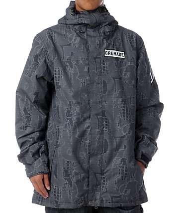 Grenade Riot Code 8K Grey Snowboard Jacket