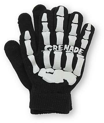 Grenade Skull Black & Grey Gloves