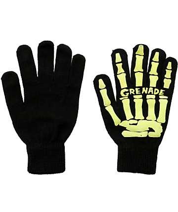 Grenade Skull Black & Slime Gloves