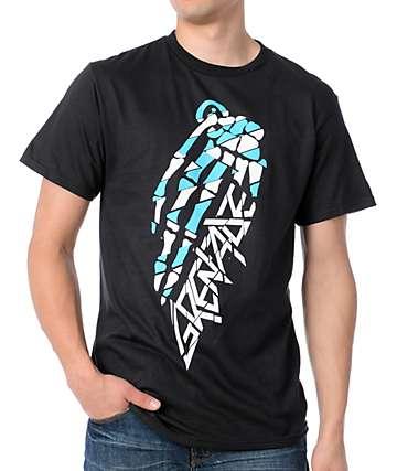 Grenade Skull Bomb Black T-Shirt