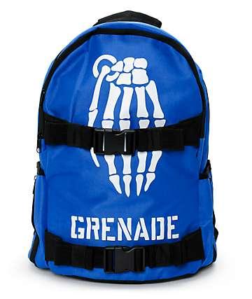 Grenade Skull Bomb Blue Backpack