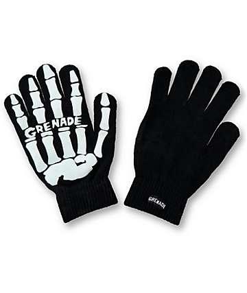 Grenade Skull Knit Gloves