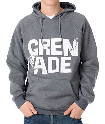 Grenade Stacker Charcoal Pullover Hoodie