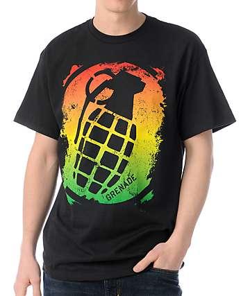 Grenade Stenz Rasta Black T-Shirt