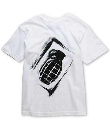 Grenade Sullen Stencil Boys White T-Shirt