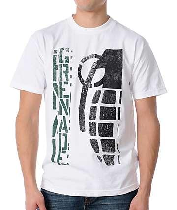 Grenade Vert Bomb White T-Shirt