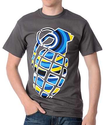 Grenade Vertigo Grey T-Shirt