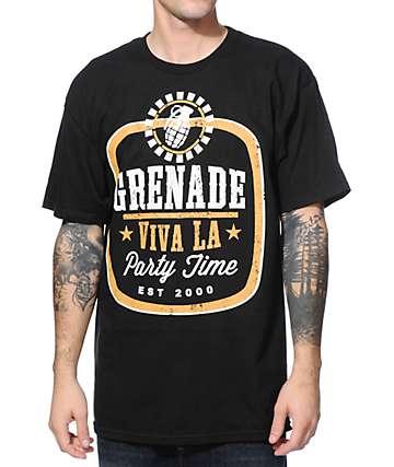 Grenade Viva LA Party Time Black T-Shirt
