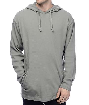 Grizzly Back Country Thermal Grey Hoodie