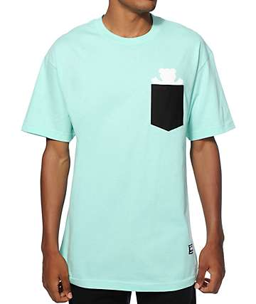 Grizzly Bear Contrast Pocket T-Shirt